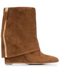 The Seller - Foldover Flap Boots - Lyst