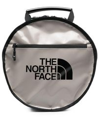 The North Face ロゴ ジップアップ バックパック - グレー