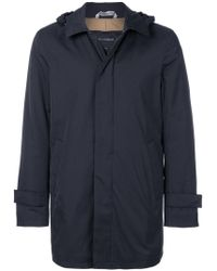 Dell'Oglio - Straight-fit Hooded Coat - Lyst