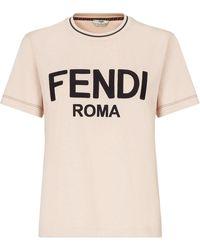 Fendi ロゴ Tシャツ - マルチカラー