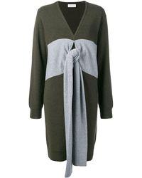 Carven Pulloverkleid mit Einsätzen - Grün
