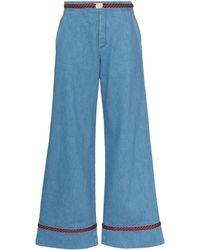 Gucci トリムディテール ワイドジーンズ - ブルー