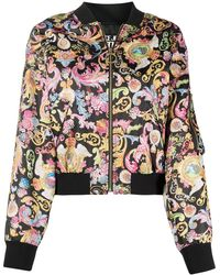 Versace Jeans Couture - バロックプリント ボンバージャケット - Lyst