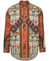 Yoshiokubo - Printed Shirt - Lyst