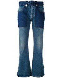 MM6 by Maison Martin Margiela   Flared Cropped Jeans   Lyst