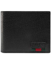 Gucci - Bi-fold Wallet With Web - Lyst