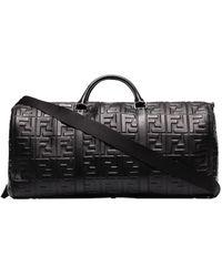 Fendi Logo-embossed Holdall Bag - Black