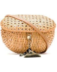 Serpui Straw Box Bag - Multicolor
