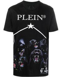 Philipp Plein Футболка С Короткими Рукавами И Принтом - Черный