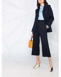Victoria Beckham Pantalones de vestir capri - Azul