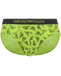 Emporio Armani イーグル ブリーフ - グリーン
