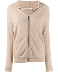 Chinti & Parker Cashmere Zip Up Cardigan - Natural