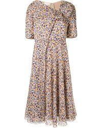 Delpozo ドットプリント ドレス - マルチカラー