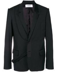 Chalayan Chaqueta de traje con tira - Negro