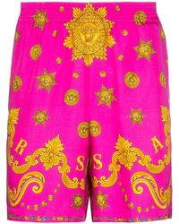 Versace Шорты С Принтом Barocco Western - Розовый