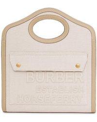 Burberry Сумка-тоут Pocket С Принтом Horseferry - Многоцветный