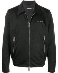 DSquared² Logo Lettering Zipped Jacket - Black