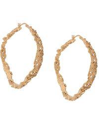 Loveness Lee Rebutia Large Hoop Earrings - Metallic
