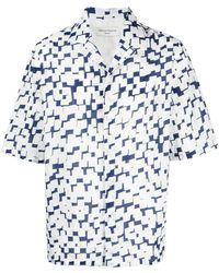 Officine Generale Рубашка С Графичным Принтом - Белый