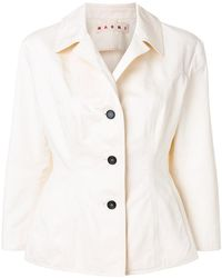 Marni - Fitted Collared Jacket - Lyst