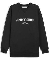 Jimmy Choo Felpa JC College con stampa - Nero