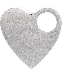 Coperni Heart Swipe クラッチバッグ - メタリック