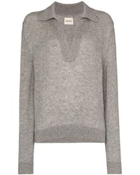 Khaite Jo Cashmere Polo Sweater - グレー