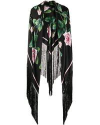 Dolce & Gabbana Sjaal Met Tropische Print - Zwart