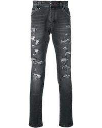 Philipp Plein - Jeans mit Logo-Print - Lyst