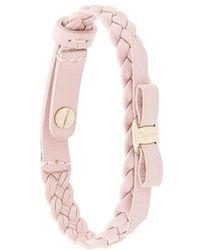 Ferragamo - Woven Vara Bracelet - Lyst
