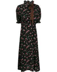 Miu Miu Marocain プリントドレス - ブラック