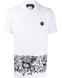N°21 フローラル ポロシャツ - ホワイト