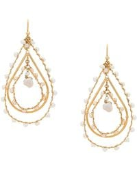 Gas Bijoux Orphee Drop Earrings - Metallic