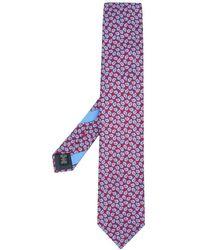 Ermenegildo Zegna Krawatte mit Paisley-Print - Rot