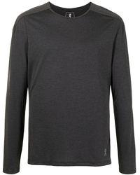 On Running T-shirt a maniche lunghe - Grigio