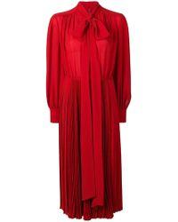 Valentino - Pleated Midi Dress - Lyst