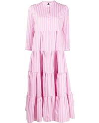 Aspesi Vertical-stripe Shirt Dress - Pink