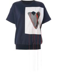 Maison Margiela - Applique Stitch Sweatshirt - Lyst