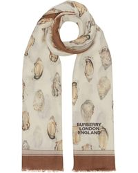 Burberry - プリント スカーフ - Lyst
