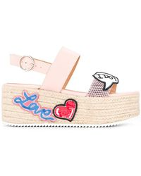 Love Moschino - Wedged Sandals - Lyst