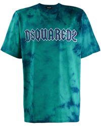 DSquared² Logo Tie-dye T-shirt - Blue
