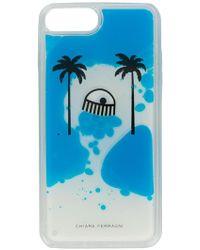 Chiara Ferragni Cover iPhone 8 plus - Blu