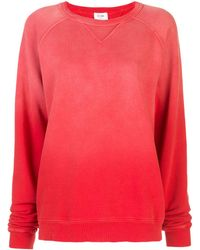 RE/DONE オーバーサイズ スウェットシャツ - レッド