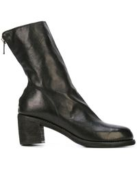Guidi Zip-up Ankle Boots - Zwart