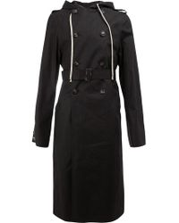 Rick Owens - Hooded Double Breasted Coat - Lyst