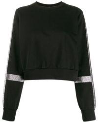 NO KA 'OI グリッターパネル セーター - ブラック