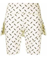 Cesare Paciotti Layered Logo-print Shorts - White