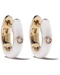 EF Collection ダイヤモンド ピアス 14kイエローゴールド - メタリック