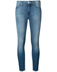 Mother - High-waisted skinny jeans - Lyst
