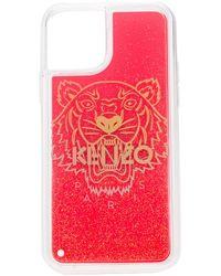 KENZO Funda de iPhone 11 Pro con logo estampado - Rojo